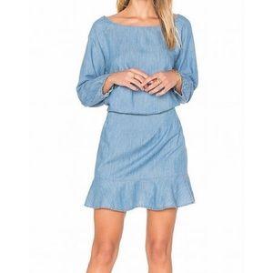 Women Joie denim long sleeve dress never worn